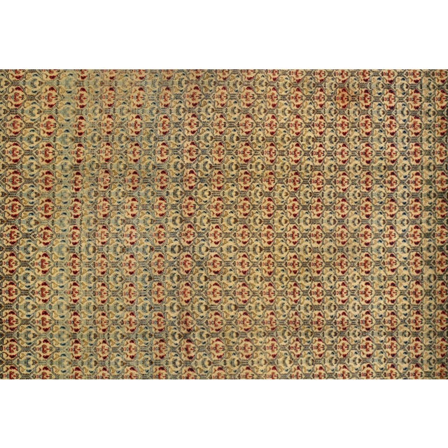 Contemporary Antique Persian Isfahan Area Rug - 5′ × 6′9″ For Sale - Image 3 of 5