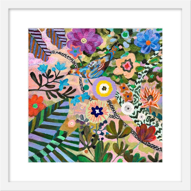 """Contemporary Small """"At Springtime"""" Print by Martyna Zoltaszek, 19"""" X 19"""" For Sale - Image 3 of 3"""