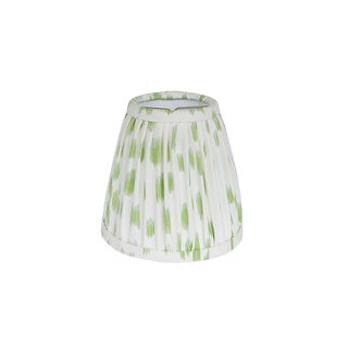 Light Green Animal Print Pleated Sconce or Chandelier Shade For Sale