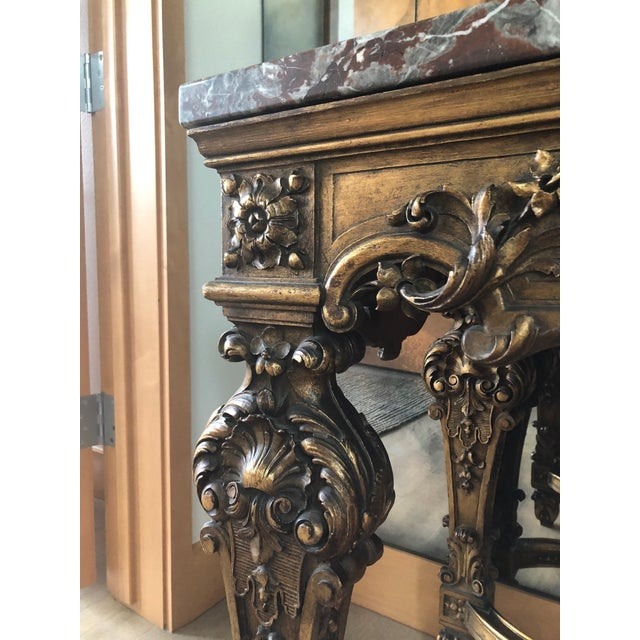 Louis XIV Style Gran Baroque Table For Sale - Image 4 of 9