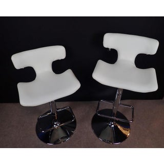 Late 20th Century Modern Adjustable Swivel Bar Stools- A Pair Preview