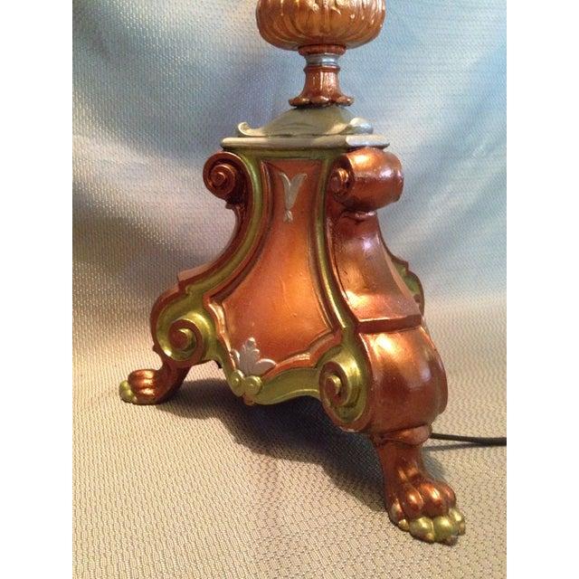 Retro Cornucopia Handpainted Floor Lamp - Image 7 of 7