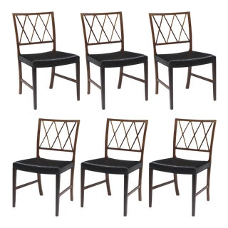 Set of 6 Ole Wanscher for A.J. Iversen Rosewood Dining Chairs For Sale