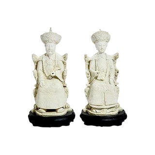 "Chinese 14"" Imperial Figures - a Pair For Sale"