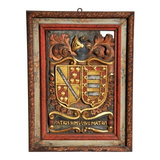 18th Century French Family Crest For Sale