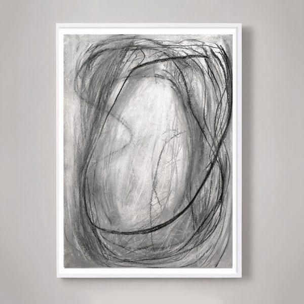 """Abstract Expressionism """"Infinity Drawings No. 1"""" Unframed Print For Sale - Image 3 of 3"""