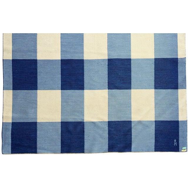 Large Swedish Rollakan Double-sided Flat-weave Carpet - Image 2 of 3