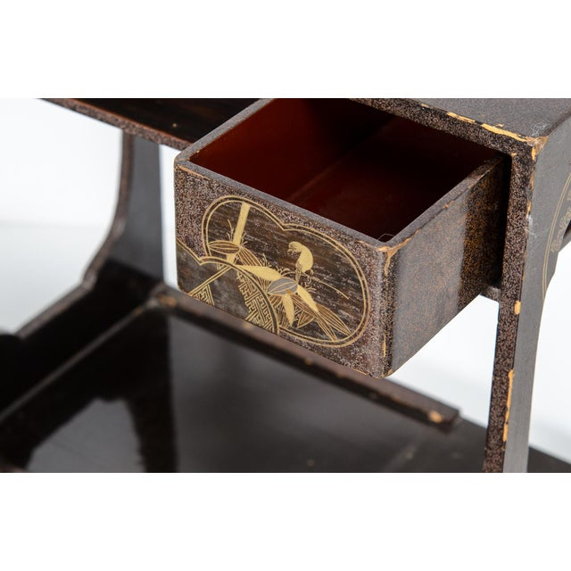 Wood Japanese Lacquer Picnic Set Box For Sale - Image 7 of 9