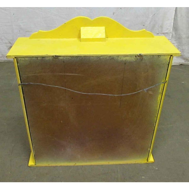 Yellow Painted Curio Cabinet For Sale - Image 5 of 8
