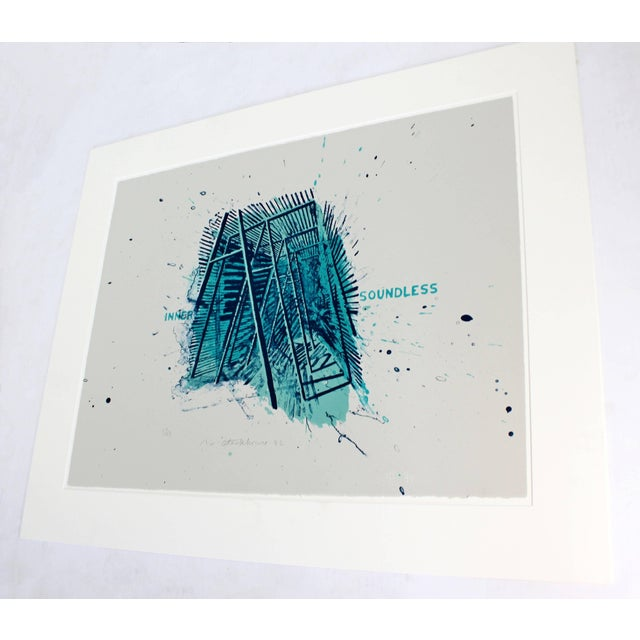 Unframed Signed Dated Numbered Robert Stackhouse Inner Soundless Lithograph 1992 For Sale In Detroit - Image 6 of 6