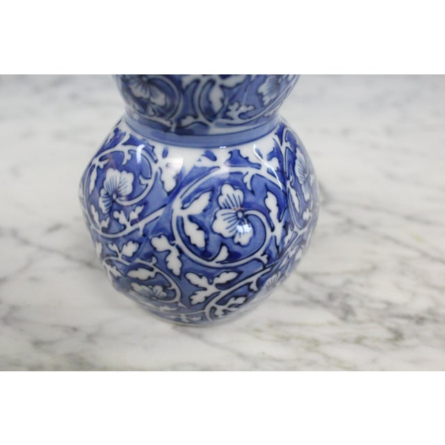 Chinese Cobalt Bud Vase For Sale - Image 4 of 6