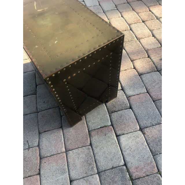 Sarreid Brass Clad Three Drawer Chest of Drawers For Sale - Image 10 of 13