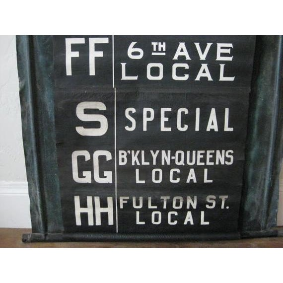 NYC Complete MTA Destination Canvas Scroll Sign For Sale - Image 4 of 8