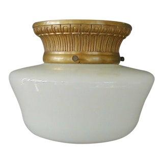 Dore Gilt Bronze & Milk Glass Light Fixture by e.f. Caldwell - C1914