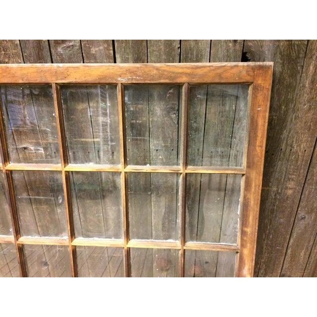 Vintage 24 Pane Wood Window - Image 7 of 11