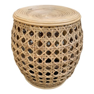 Bamboo Cane Side Table For Sale