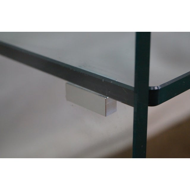 Mid-Century Modern Curved Glass Console Table For Sale - Image 5 of 10