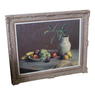 Vintage Mid-Century Caddell Still Life Painting For Sale