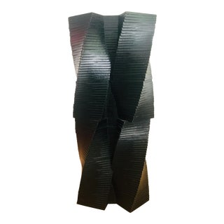 Frank Gehry Cast Bronze Sculpture With Black Patina For Sale