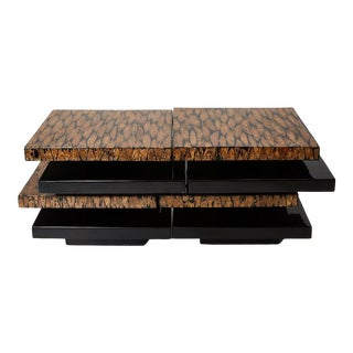 1990s Contemporary Stacked 2-Part Coffee Table For Sale