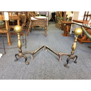 Brass & Copper Andirons - a Pair Preview