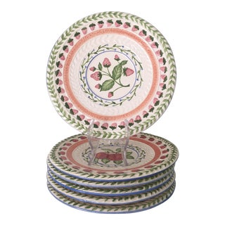 Vintage Majolica Salad Plates by Strata Group - Set of 6