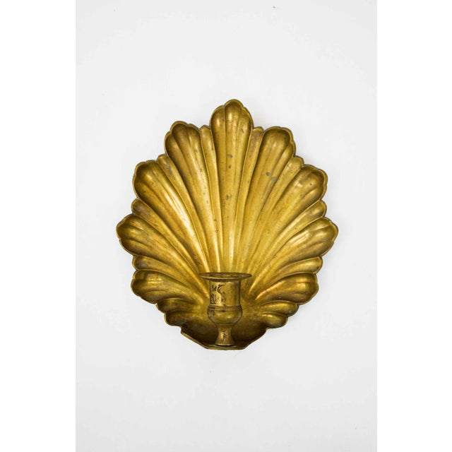 Mid 20th Century Mid Century Brass Candle Sconces - a Pair For Sale - Image 5 of 7