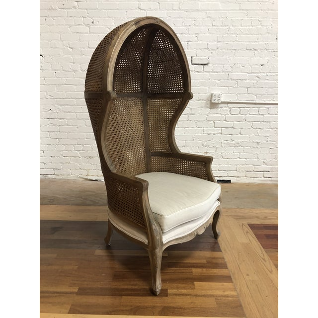 Porters Style Balloon Caned Chair For Sale - Image 13 of 13