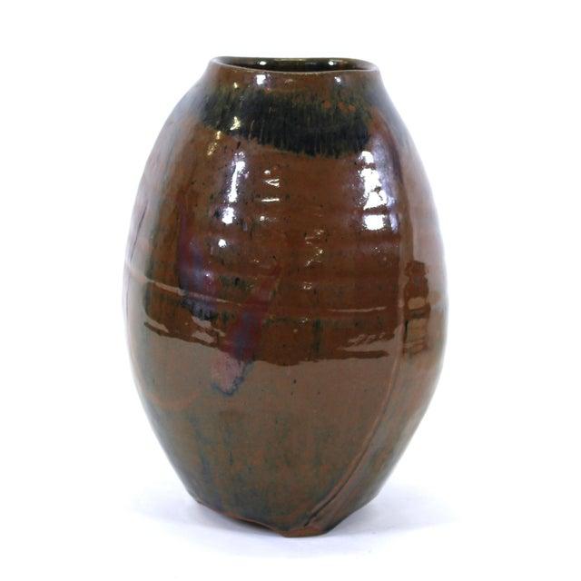 Mid 20th Century Japanese Mid-Century Modern Studio Pottery Vase For Sale - Image 5 of 9