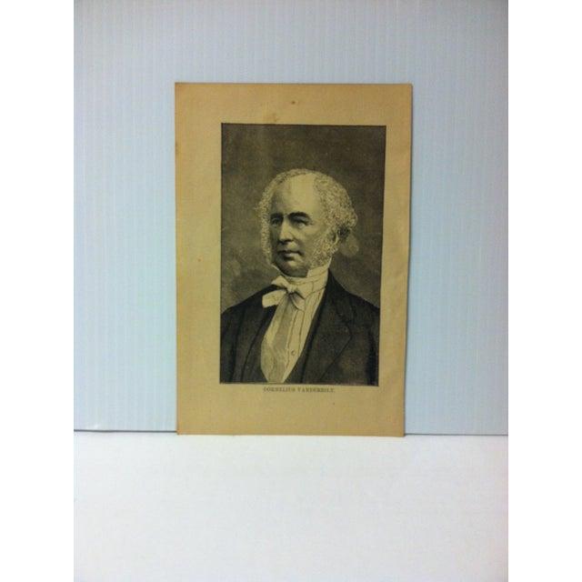 "1880 ""Cornelius Vanderbilt"" Successful Self-Made Men Print on Paper For Sale - Image 4 of 4"
