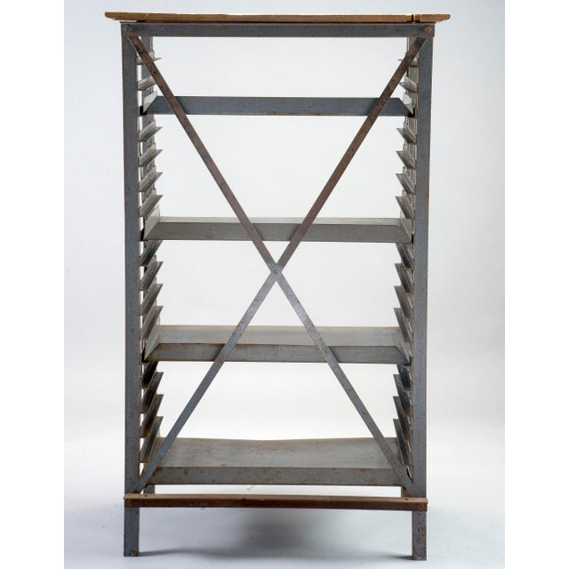 ndustrial Blue Metal Adjustable Shelf Unit - Image 4 of 8