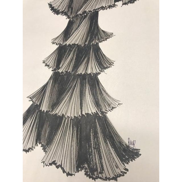 Robert W. Richards for Cardinali Original Fashion Sketch - Image 5 of 9