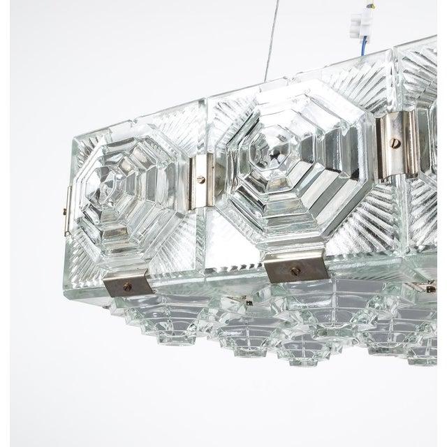Mid-Century Modern 1 of 7 Kamenicky Senov Bohemian Glass Flush Mount Ceiling Lamp, Czechia For Sale - Image 3 of 13