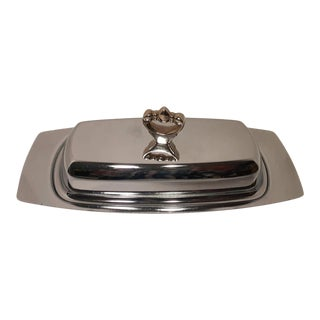 Mid Century Kromex Chrome Butter Dish For Sale