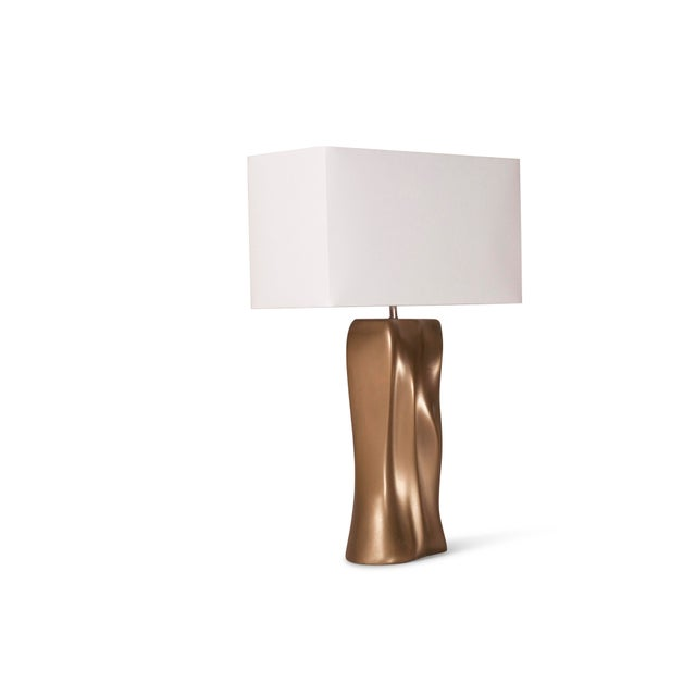 Contemporary Amorph Doris Table Lamp - Gold Finish For Sale - Image 3 of 9