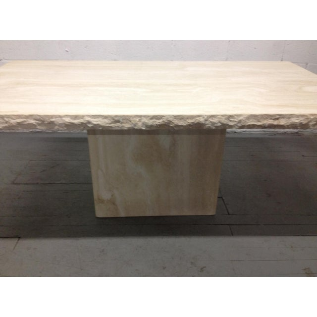 Italian Large Italian Travertine Table For Sale - Image 3 of 6