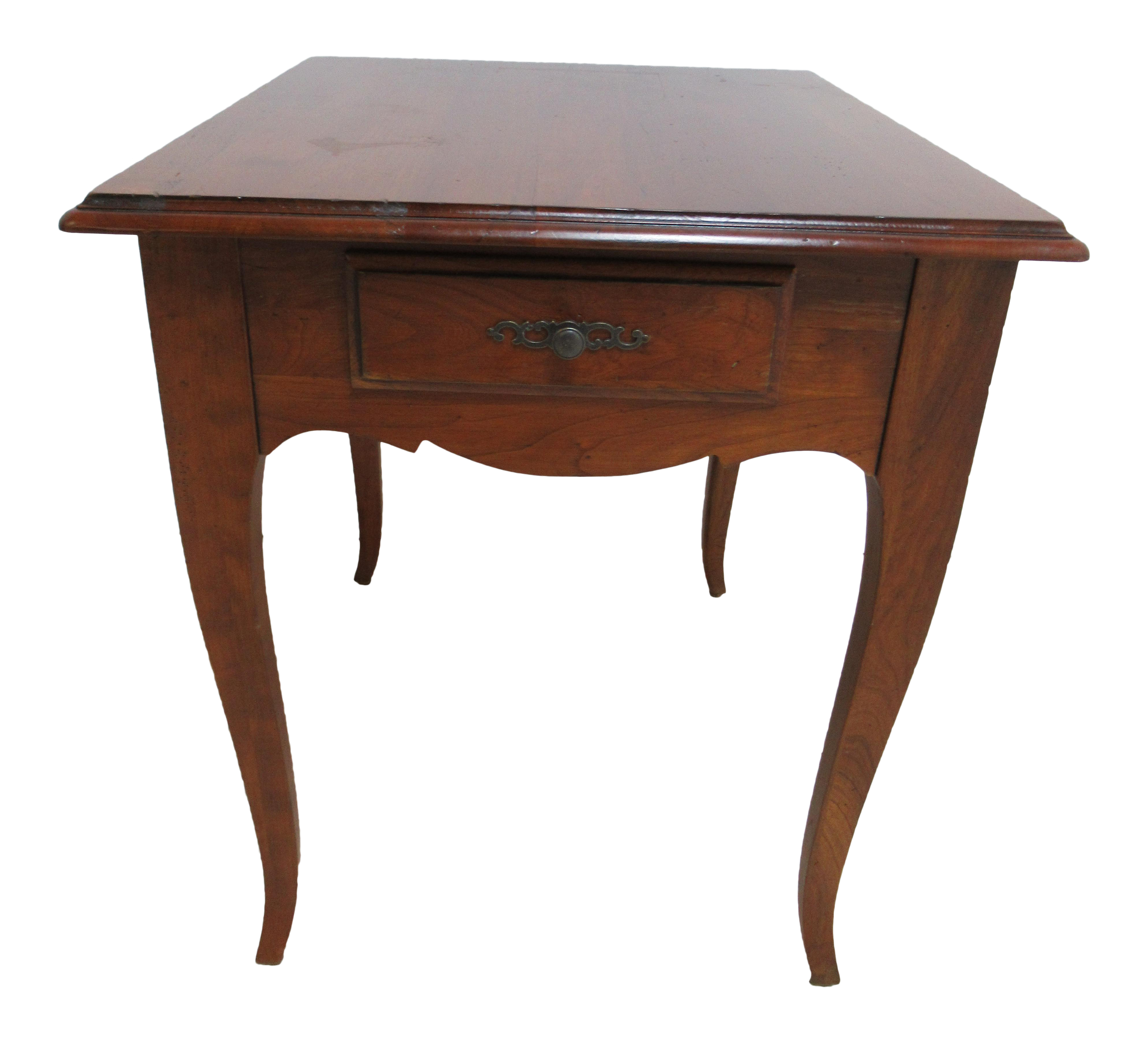 1990s French Country Ethan Allen Maison Lamp End Table