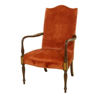 Hickory Chair Co Sheraton Mahogany Lolling Chair For Sale