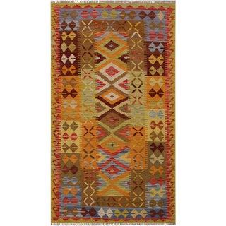 Kilim Arlean Hand-Woven Wool Rug -3'3 X 6'8 For Sale
