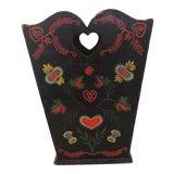 Image of Vintage Folk Art Style Wastebasket or Umbrella Stand For Sale