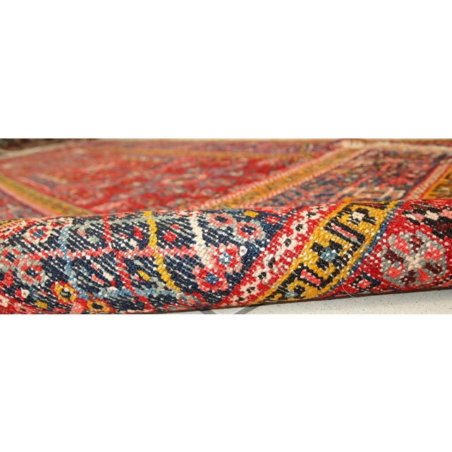 1920s Handmade Antique Persian Karajeh Runner - 3.5' X 10.8' - Image 7 of 10
