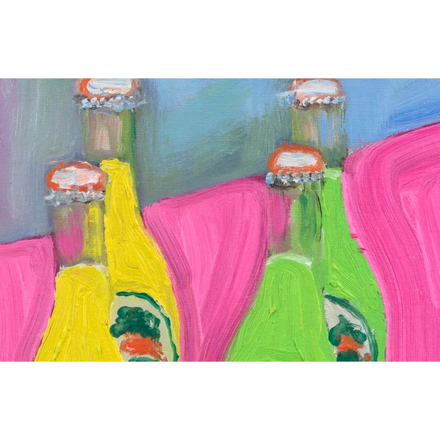Double bottles of soda in bright colors create the perfect decoration for any room. Bright, colorful, happy painting in a...