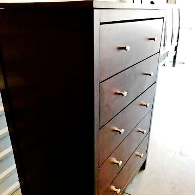 Restoration Hardware 5 Drawer Solid Radiata Wood Multi-Coat Espresso Finished Dresser From Epoch by Design For Sale - Image 4 of 13