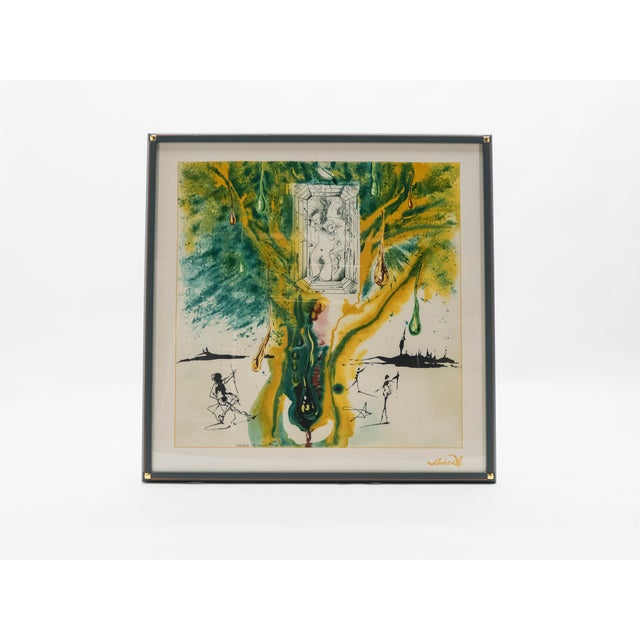 The Emerald of the Tablet Salvador Dali Silk Serigraphy 1989 - Edition of 2000 For Sale - Image 11 of 11