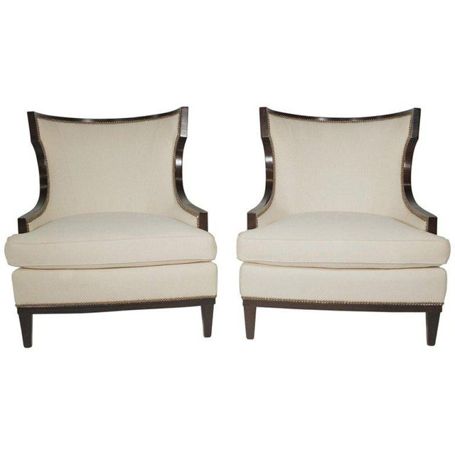 1950s Vintage Barbara Barry Modern Style Upholstered Chairs- A Pair For Sale - Image 11 of 11
