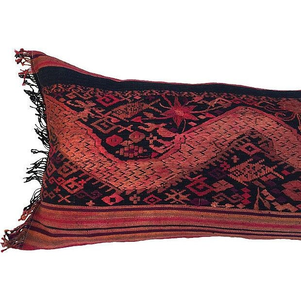 Embroidered Thai Silk Dragon Pillow - Image 2 of 5