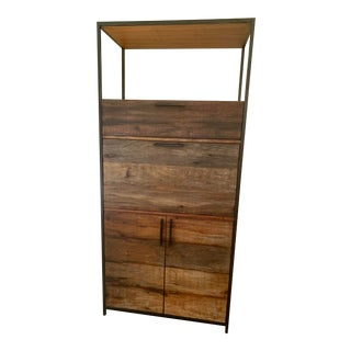 Crate & Barrel Reclaimed Wood Bar For Sale