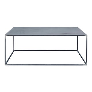 Minimalist 'Filiforme' Patinated Steel Coffee Table by Design Frères For Sale