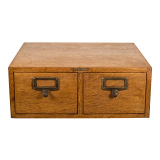 C.1940 Oak and Brass Globe Wernicke Card Catalog For Sale