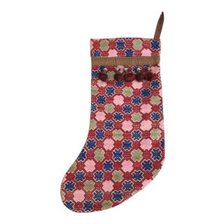 Hmong Tribal Textile Christmas Stocking For Sale